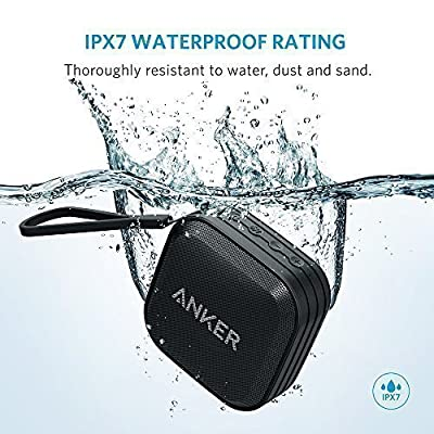 [New Release] Anker SoundCore Sport (IPX7 Waterproof/Dustproof Rating, 10-Hour Playtime) Outdoor Portable Bluetooth Speaker/Shower Speaker with Enhanced Bass and Built-In Microphone
