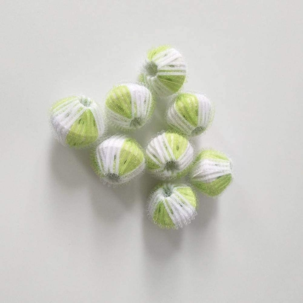 8Pcs Magic Hair Removal Laundry Ball Clothes Cuidado personal para lavadora Lavado de limpieza Ball Ball Accesorios de baño Gadget, Green, Estados Unidos