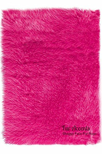 Plush Faux Fur - Shaggy Sheepskin Area Rug - Rectangle Shag-
