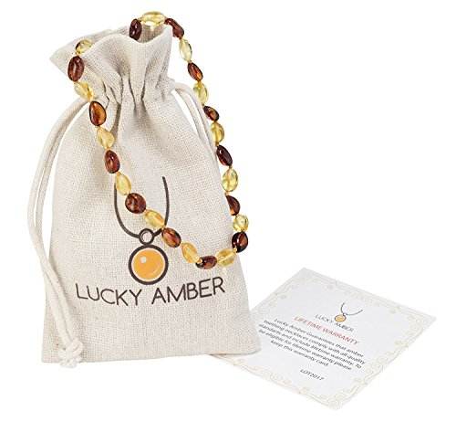 [Baltic Amber Teething Necklace For Babies – Anti Flammatory, Drooling & Teething Pain Reduce (Cognac Honey)] (Very Special Cognac)