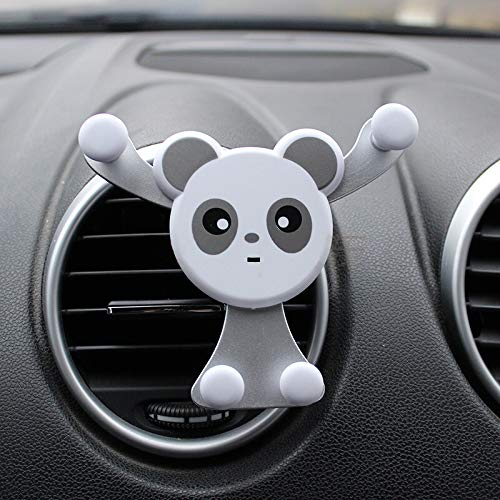 GoGear Cell Phone Holder for Car, Universal Air Vent Mount Cradle, Carton Panda Image, Fits iPhone, Samsung Galaxy, Google Nexus, LG, Sony, HTC and More, Cute Image Easy to Operate