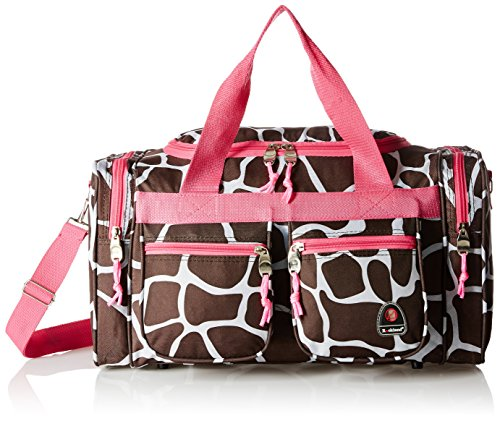 rockland-luggage-19-inch-tote-bag-pink-giraffe-one-size
