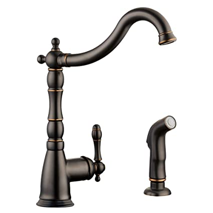 Design House 523217 Oakmont Kitchen Faucet With Sprayer With Single