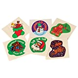 Lot Of 144 Assorted Christmas Theme Temporary Tattoos - 1.5