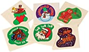Lot of 144 Assorted Christmas Theme Temporary Tattoos - 1.5&