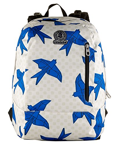 Lt 2in1 26 Blue Backpack Solid Multicolour Origami Invicta Multicolore Colour Geometric Reversible Pattern Twist BpH18Hqd