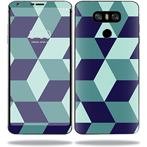 MightySkins Protective Vinyl Skin Decal for LG G6 Sticker wrap Cover Sticker Skins Geo Tile