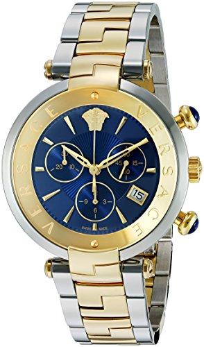 Versace-Mens-Rvive-Chrono-Swiss-Quartz-Stainless-Steel-Casual-Watch-ColorTwo-Tone-Model-VAJ180017
