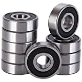 XiKe 10 Pack 6201-2RS Bearings 12x32x10mm, Stable Performance and Cost-Effective, Double Seal and Pre-Lubricated, Deep Groove Ball Bearings.