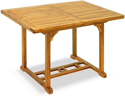 Senza Marca Table de Jardin rectangulaire Extensible en Bois ...