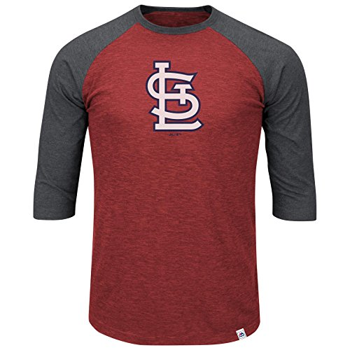 Majestic Athletic St. Louis Cardinals Grueling Ordeal 3 Quarter Sleeve T-Shirt (Quarter Slub Sleeve Shirt)