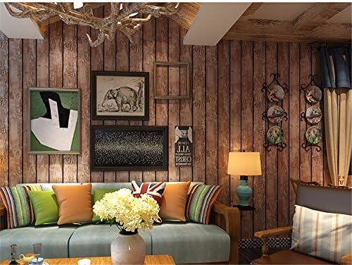 Retro Nostalgia Hacer Papel Tapiz Antiguo de Madera Antiguos Bar Wallpaper Wallpaper Tienda de Ropa de Moda Personalidad Barber, Papel Tapiz de Grano de Madera, C: Amazon.es: Hogar