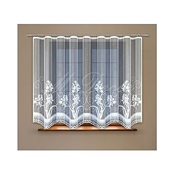 Amazon.de: Fenster Net Vorhänge Fertig Zum Aufhängen weiß 120 x 300 ...