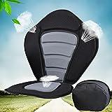 Black Adjustable Kayak Seat and Backrest Boat Seat-Black Strap Padded Seat with Backrest Padded Portable for Fishing Kayaking Canoeing and Rafting Black 4Pcs Hook Nylon
