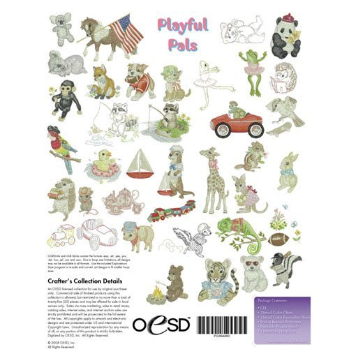 PLAYFUL PALS OESD Embroidery Machine Designs - Embroidery Designs Oesd