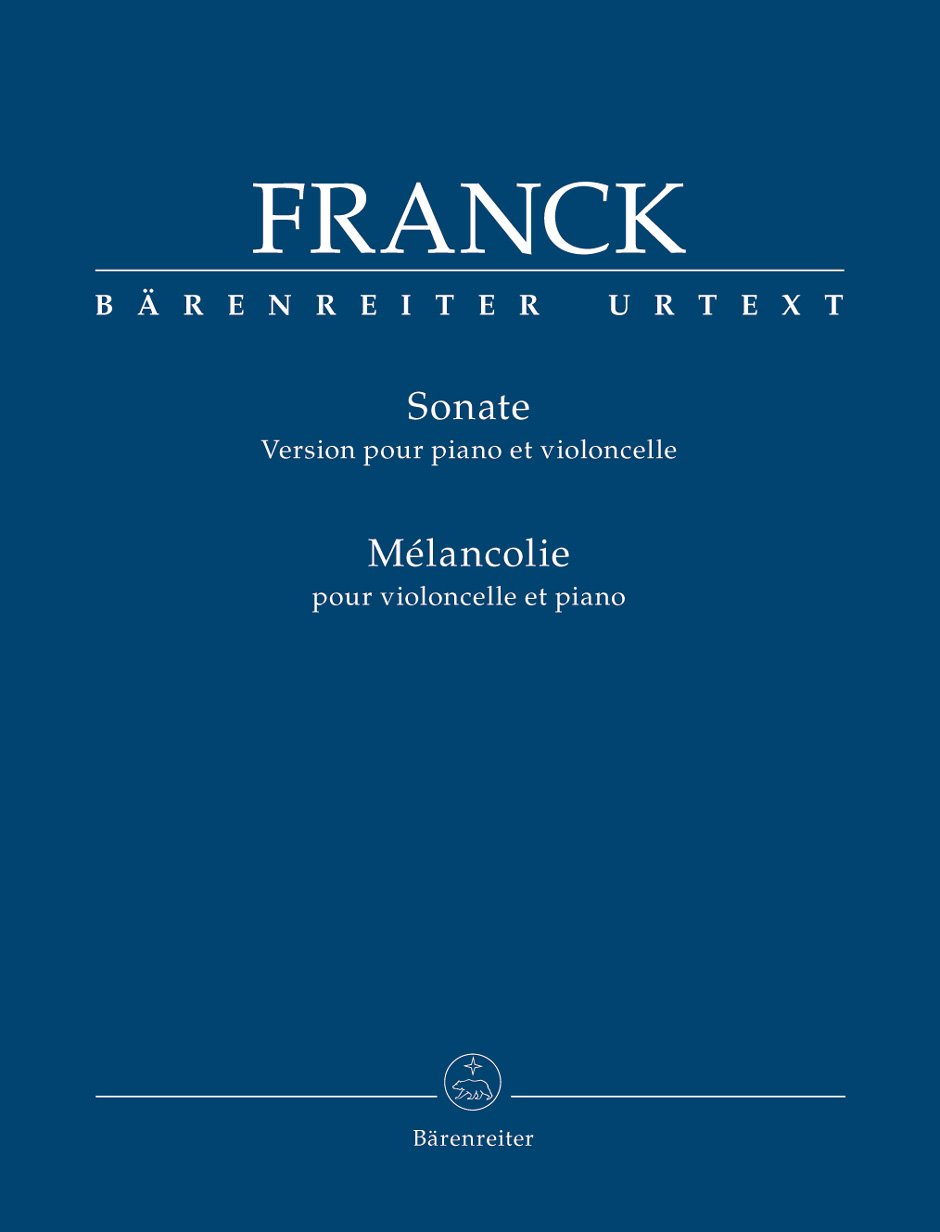 Franck, C. - Sonata for Violoncello and Piano César Franck Barenreiter