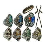 Katekyo Hitman Reborn - Vongolo Family Ring (set of 7) with weapon in box
