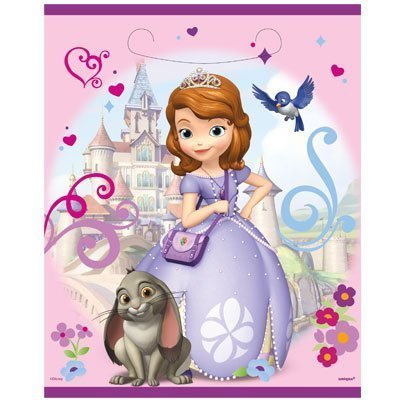 Princess Sofia the First 8 Party Loot Bags Treat Sacks by Unique - Treat Princess Sack