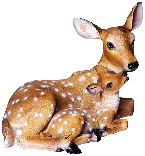 - Design Toscano Mothers Love Doe and Fawn Garden Animal Statue, 19 Inch, Polyresin, Full Color