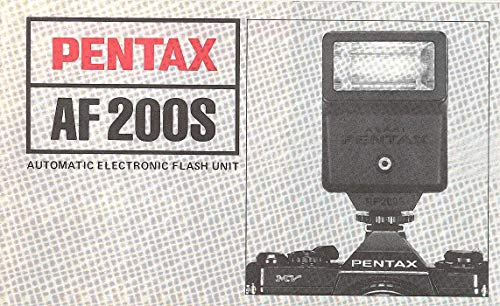 - Pentax AF200S Automatic Electronic Flash Unit Original Instruction Manual