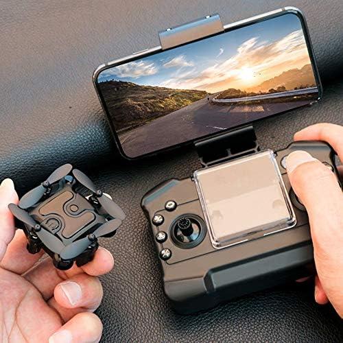 Drone met HD-camera, Mini Drone Quadcopter met op afstand bedienbare Opvouwbaar, met WiFi-APP-modus Remote Headless Black Jet