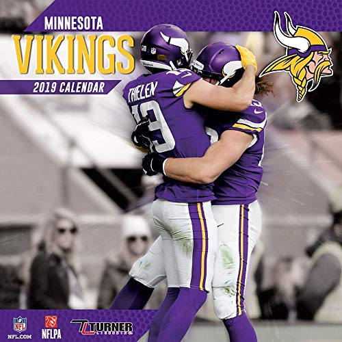 2019 Minnesota Vikings Mini Wall Calendar, Minnesota Vikings by Turner - Calendar Minnesota Wall Vikings