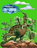 Dinosaur Compostion Notebook: Parasaurolophus Wide Ruled Writing Journal for Elementary School Students