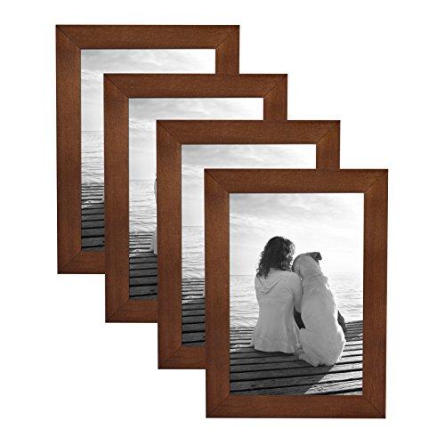 DesignOvation Gallery Wood Picture Frame (Set of 4), 4