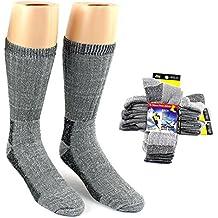 Men's Best Thermal Merino Wool Crew Socks - Gray - 2-Pair per Packs