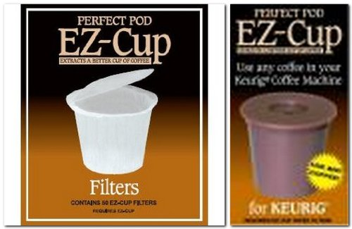 - Ez-cup & Ez Cup Filters (55 Filters) Combo Pack for Keurig 1.0 Brewers By Perfect Pod