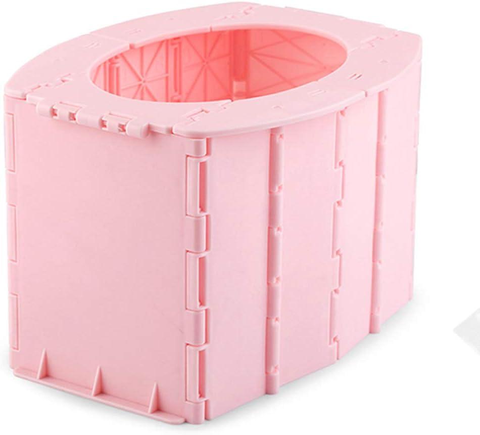 Inodoro plegable m/ás peque/ño port/átil para ni/ños orinal m/óvil de emergencia para ni/ños ideal para jugar al aire libre//viaje//viajes en coche rosa rosa Talla:14.5 /× 11.8 /× 4cm