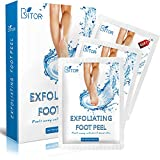 #6: Foot Peel Mask(2 pair) with a Gift(1 pair of Moisturizing Foot Mask), Exfoliating Dead Skin Remover by BRITOR