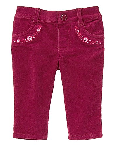 Gymboree Baby Girl Mulberry Floral Corduroy Pants (3-6 mo) Floral Corduroy Pants