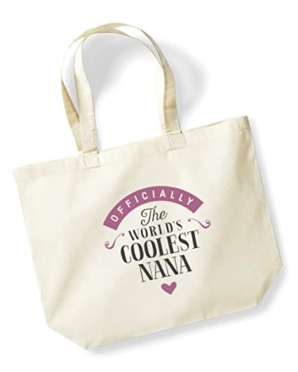 Nana Birthday Or Christmas Gift Bag Tote Shopping Present Gifts For Women Worlds Coolest Natural Amazoncouk Kitchen
