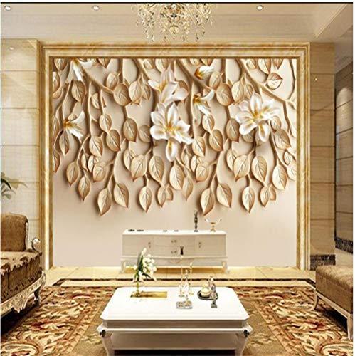 Large Custom Wallpaper Wallpaper Fragrant Resin Embossed TV Background Wall Mounted 3D wallpaper-380x240cm
