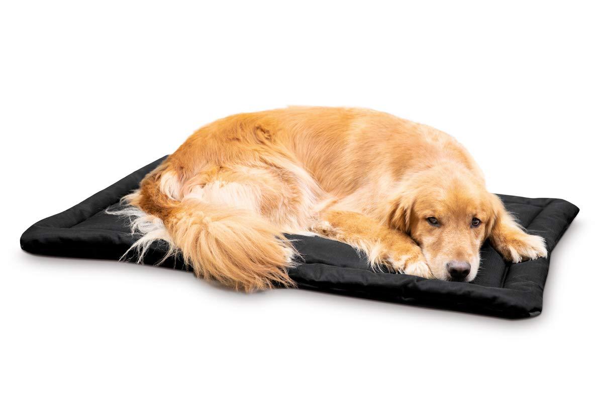 K9 Ballistics Tough Dog Crate Pad - Washable, Durable and Waterproof XL Dog Crate Beds - Large Dog Crate Mat, 47''x28'', Black by K9 Ballistics
