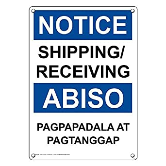 Amazon com: Weatherproof Plastic Vertical OSHA Notice Shipping