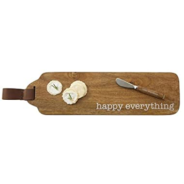 Mud Pie 4755035 Happy Everything Wood Set Serving Board, One Size, Brown