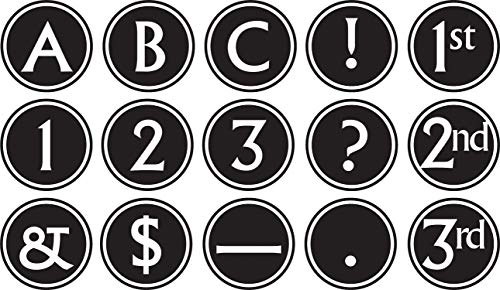 (Teacher Created Resources 75400 Big, Bold Black & White Circle Letters)