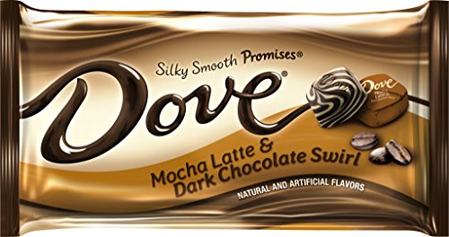 Latte and Dark Chocolate Swirl Candy 7.94-Ounce Bag (Pack of 12) (Mocha Dark Chocolate Swirl)