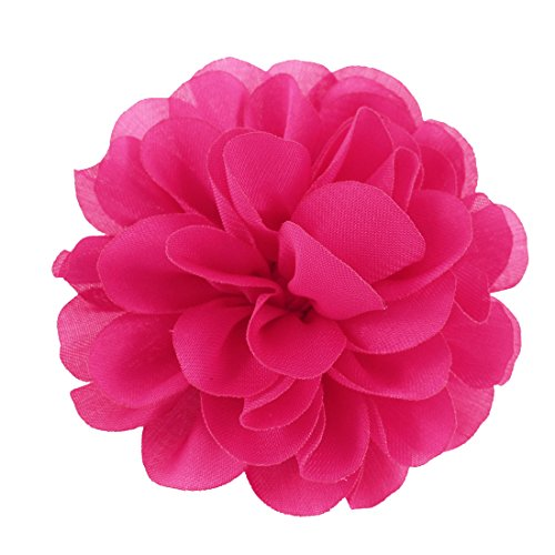Floral Design Brooch - Woman Clothes Ornament Floral Design Flower Corsage Brooch Pin Pink