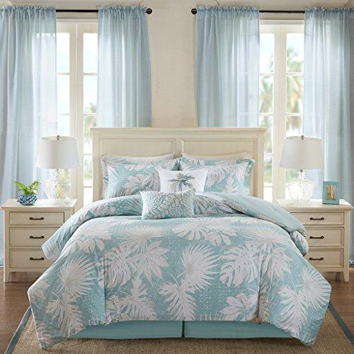 Blue Harbor House - Harbor House Palm Grove Comforter Set, Full, Blue