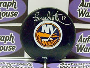 Autograph Warehouse 12368 Bryan Trottier Autographed Hockey Puck New York Islanders