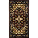 Safavieh Classic Collection CL225A Handmade Traditional Oriental Multicolored and Red Wool Area Rug (2'3'' x 4')