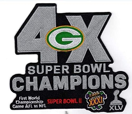 Green Bay Packers NFL Superbowl 4X Champs Patch 7 X 5 3/4 Super Bowl 53 ()