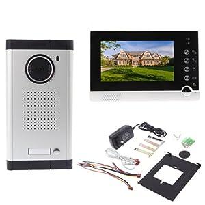 Zophor (TM) IR-Nacht-Vision für Villa Wohnungs Eye Tür Glocke 17,8cm TFT LCD...