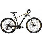 Uenjoy Murtisol Mountain Bike Men's Women's Bike Speed Fast Lightning 27.5'' 21 Speed Hybrid Bicycle Steel Frame Commuter Bike in 3 Color