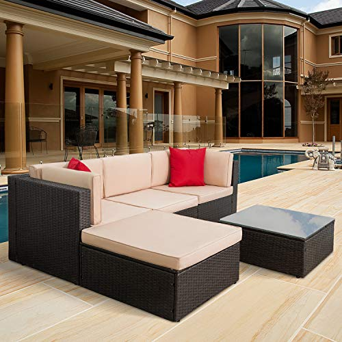 Tuoze 5 Pieces Patio Furniture S...