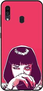 حافظة لسامسونج جالاكسي A30 بتصميم فتاة غاضبة قصيرة