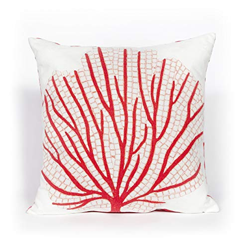 Liora Manne 7S02SA39017 Mystic III Fossil Coral Indoor/Outdoor Pillow